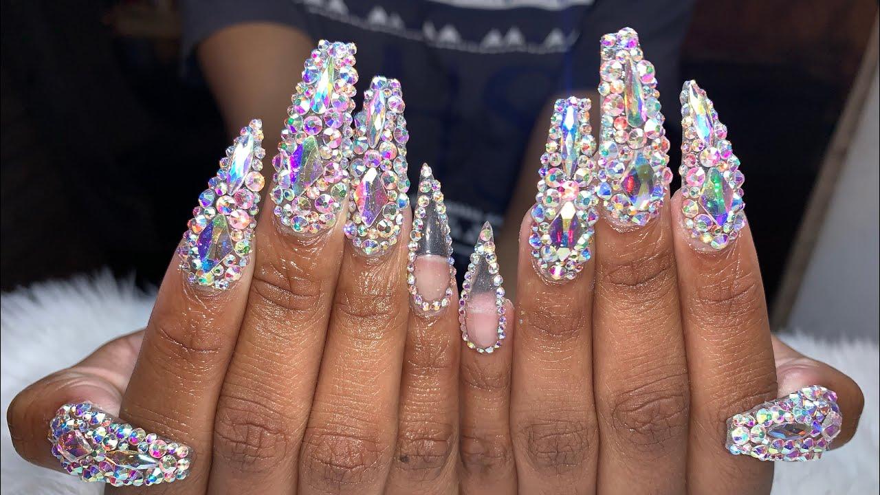 acrylic nails tutorial prom