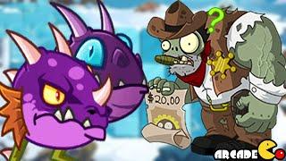 Plants Vs Zombies All Stars: Viking World Ice Ages New Plants Purple Dragon!