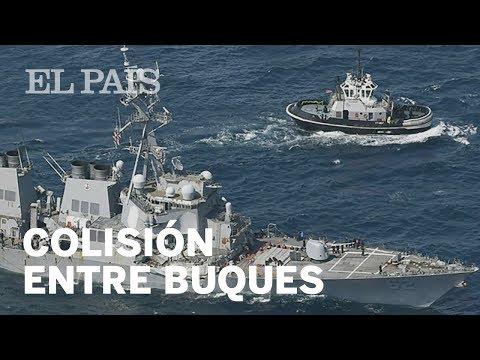 El buque militar USS Fitzgerald choca contra un barco mercante filipino | Internacional
