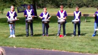 1st drumline practice for 8th grade 2011