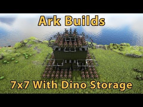 Ark Builds - 7x7 With Dino Storage