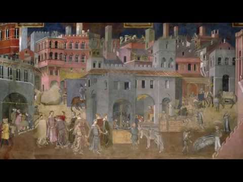 Ambrogio Lorenzetti, Palazzo Pubblico frescos: Allegory and effect of good and bad government