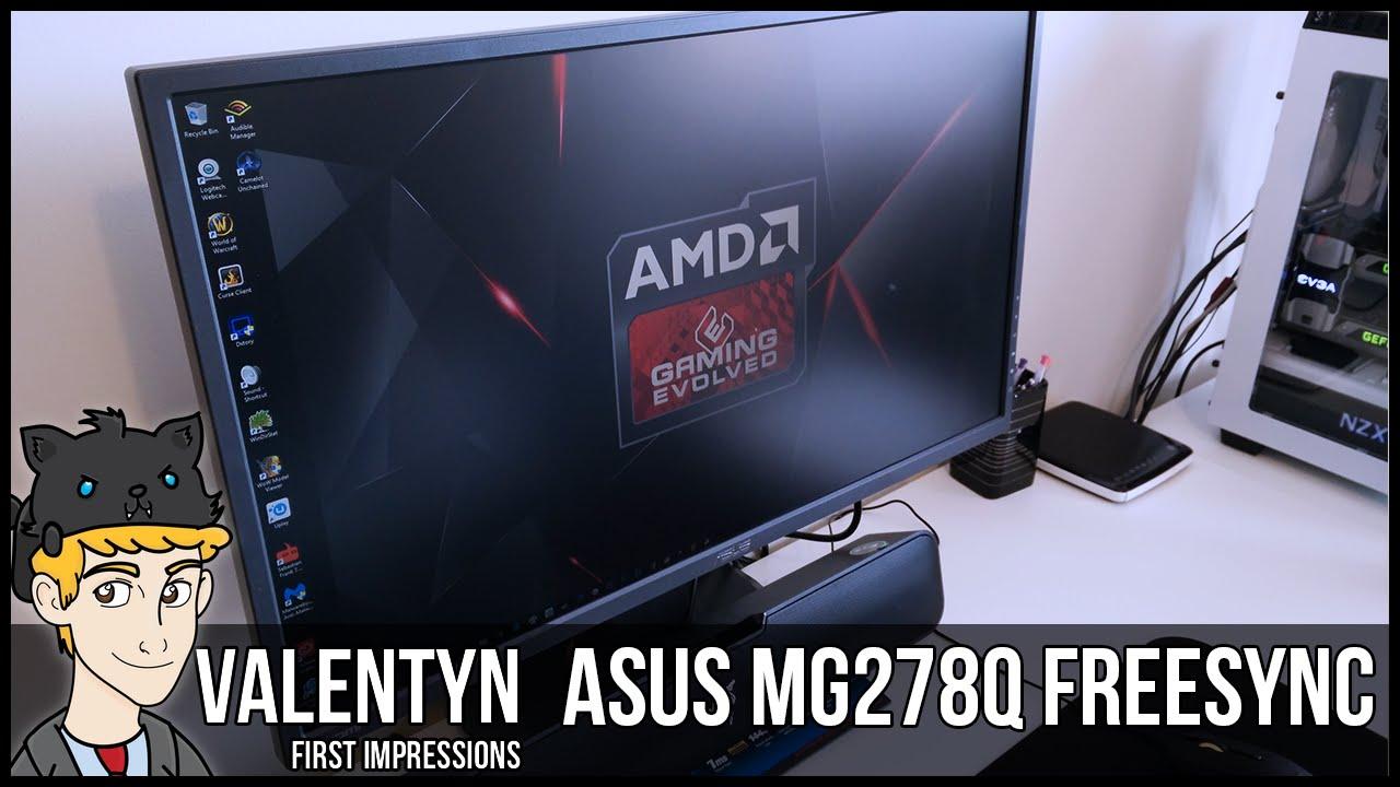 Asus MG279Q Unboxing & Setup - YouTube
