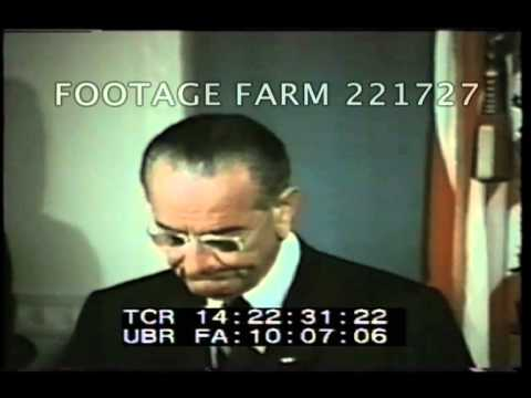 1968 Johnson Speech at 1968 Civil Rights Act Signing 221727-12 | Footage Farm