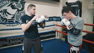 Как научить новичка бить двойку / Урок бокса для начинающих