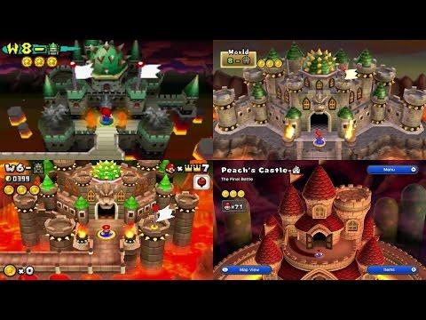 New Super Mario Bros Series - All Final Castles