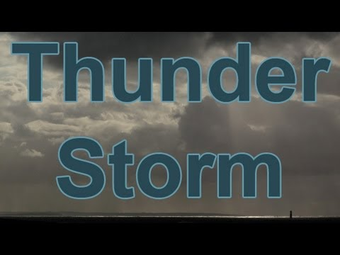 1 Hour-THUNDER & RAIN-Storm at Sea-The Perfect Storm-Nature Sounds Without Music