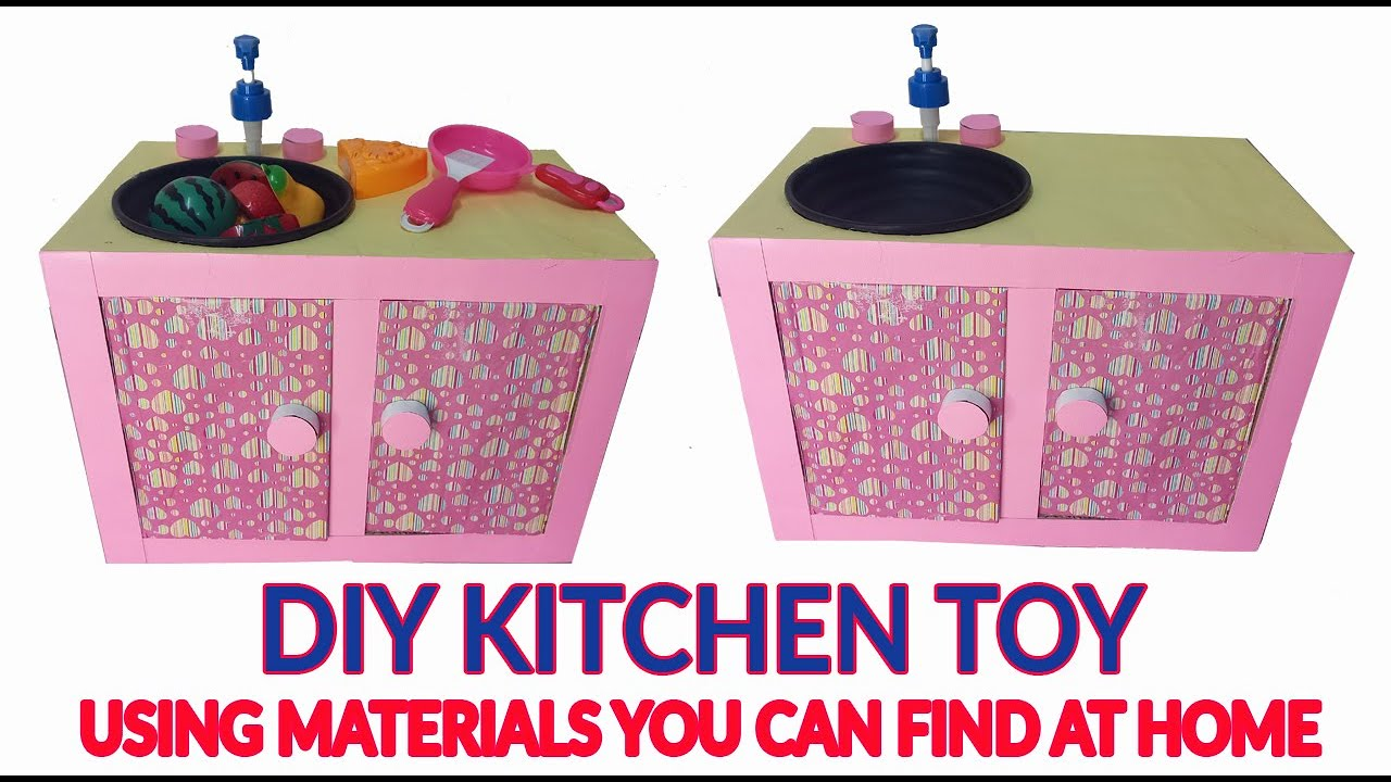 DIY KITCHEN TOY FOR KIDS USING MATERIALS THAT YOU CAN FIND AT HOME