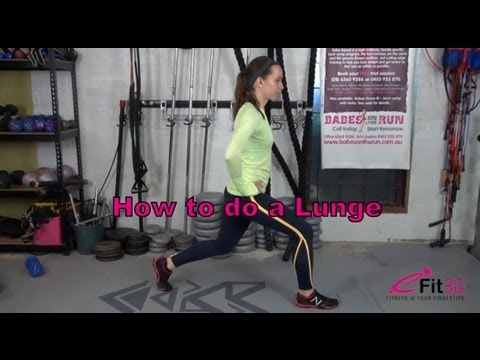 7 Minute fitness circuit - 11 Lunge (HIIT) - 동영상