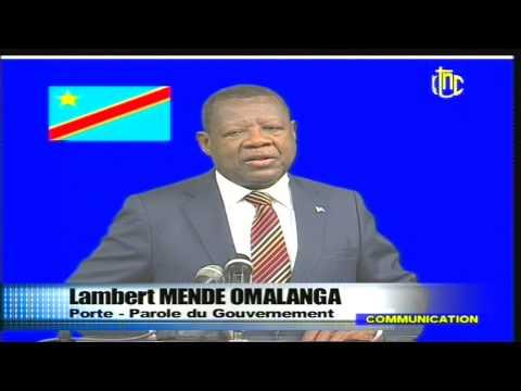 Attaque a Kinshasa, Lambert Mende LIVE a la RTNC