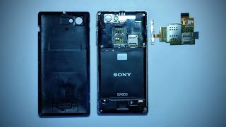 Ремонт Sony Xperia J (ST26i) часть 1 Замена шлейфа Sim/SD/Volume