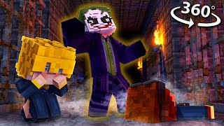 Escaping The JOKER In 360! - Minecraft VR Video