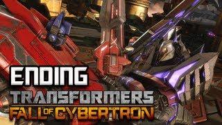 Transformers Fall of Cybertron Walkthrough - Part 30 [Chapter 13] Optimus Prime vs Megatron ENDING