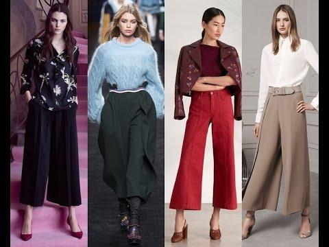 Женские брюки кюлоты 2017 фото модных образов, с чем