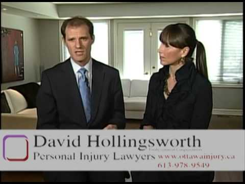 Ottawa Injury Lawyer David Hollingsworth Discusses Ontario Accident Benefits Insurance Claims.