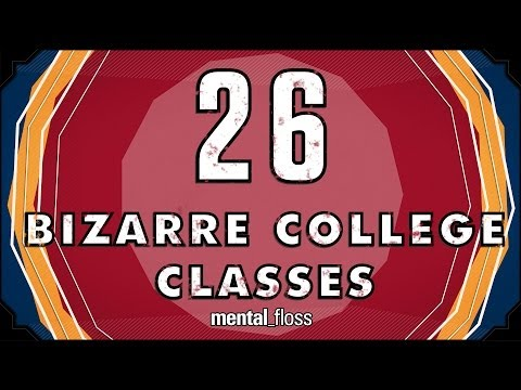 26 Bizarre College Classes - mental_floss on YouTube (Ep. 34)