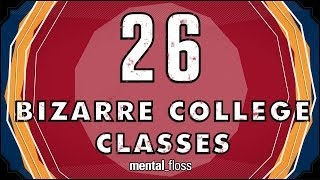 Repeat youtube video 26 Bizarre College Classes - mental_floss on YouTube (Ep. 34)