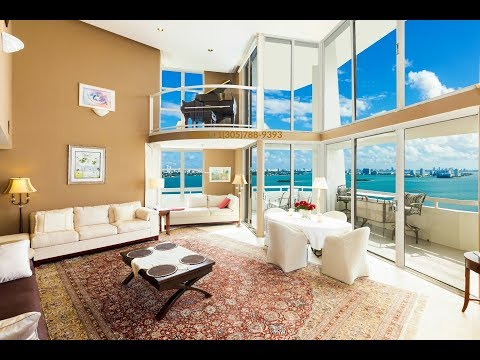 Miami Penthouse With 50' Boat Dock For Sale At Quayside Marina
