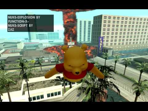 GTA SA San Andreas Winnie The Pooh + Nuke Bomb Mod