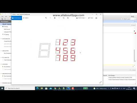 Learn FPGA 4: BCD to 7 Segment Decoder implementation on EDGE Spartan 7 FPGA Development Board