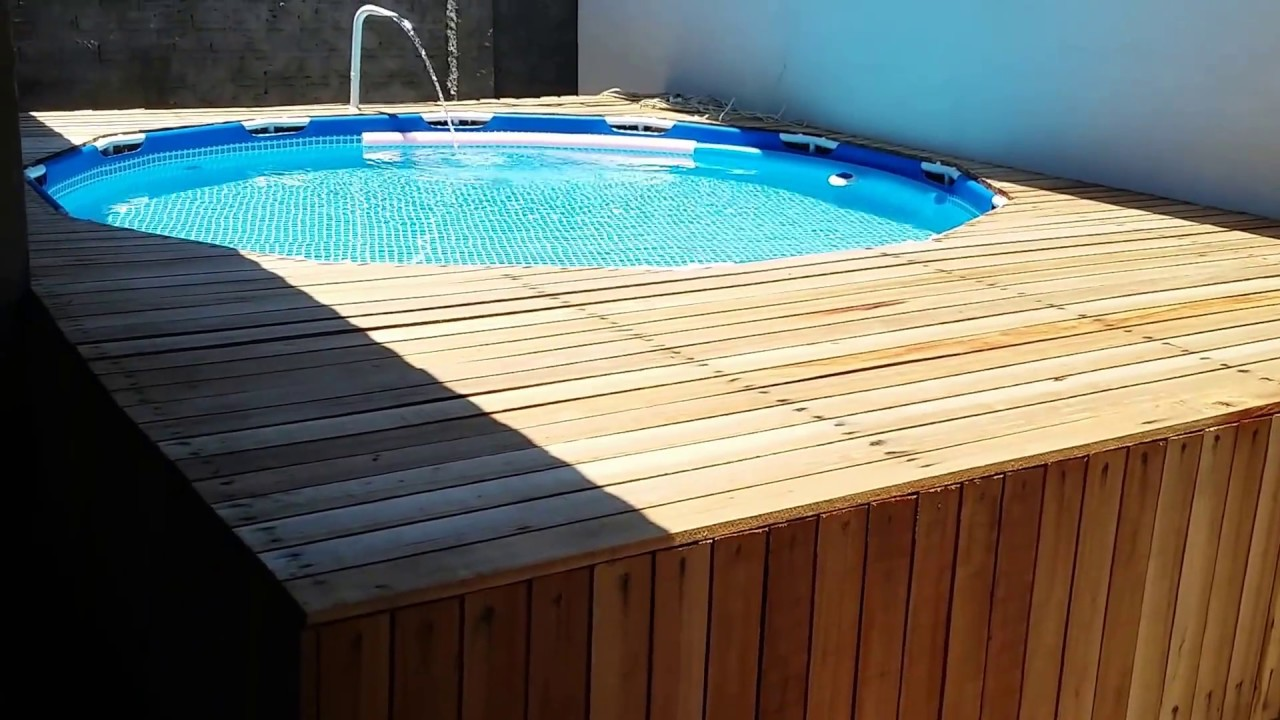 Piscina intex 6503 litros com deck parte 2 youtube - Piscinas de plastico ...