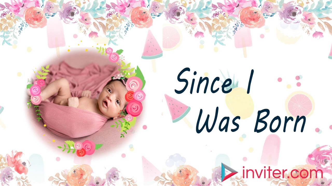 first birthday video invitation 1st birthday invitation video template inviter com