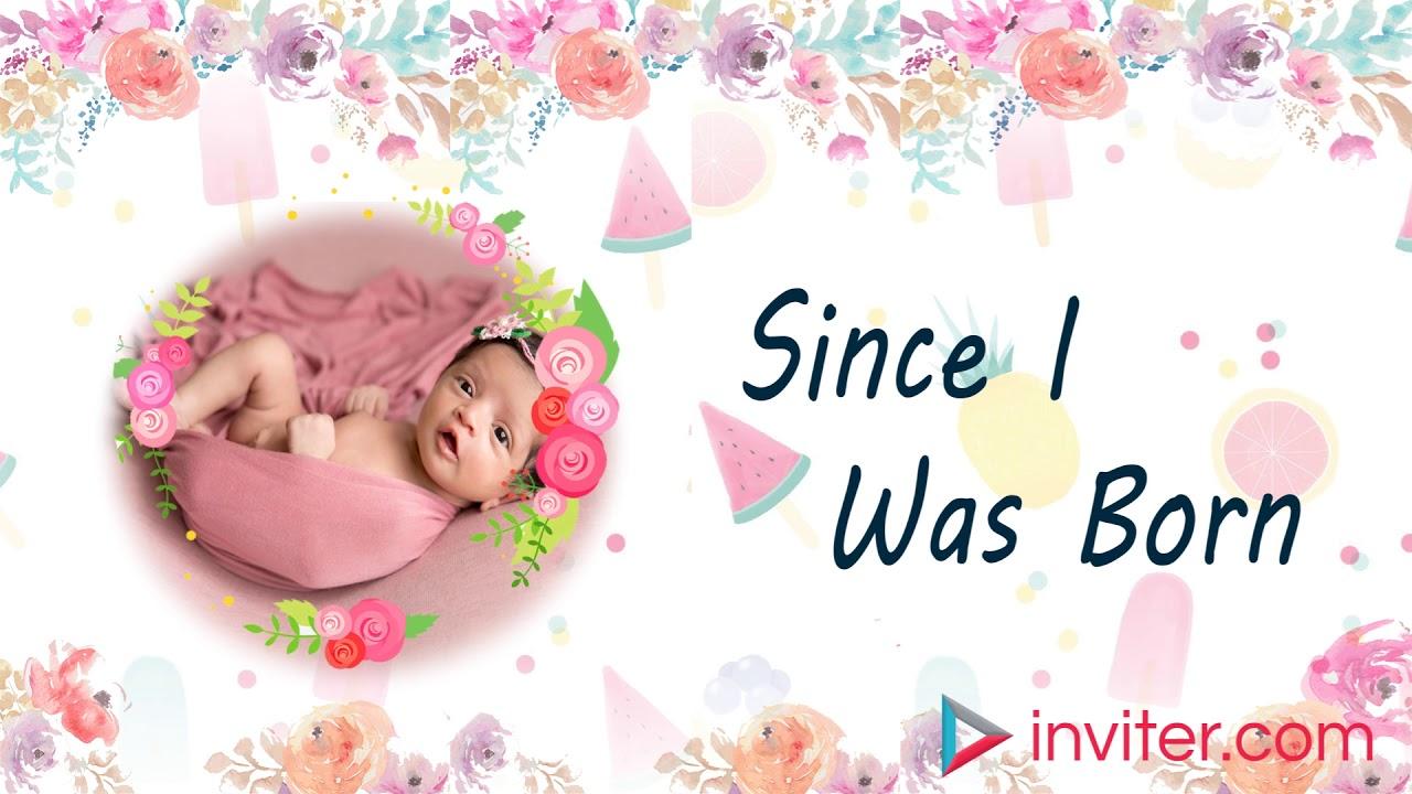 first birthday video invitation 1st birthday invitation video template inviter com