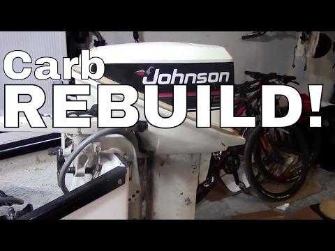 Johnson/Evinrude 15 hp Outboard Engine Carburetor Rebuild