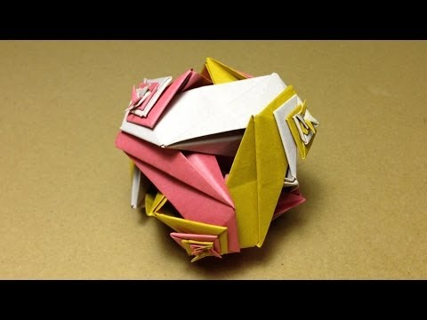 Modular Origami / KNITTED BALL / Instructions / Tutorial