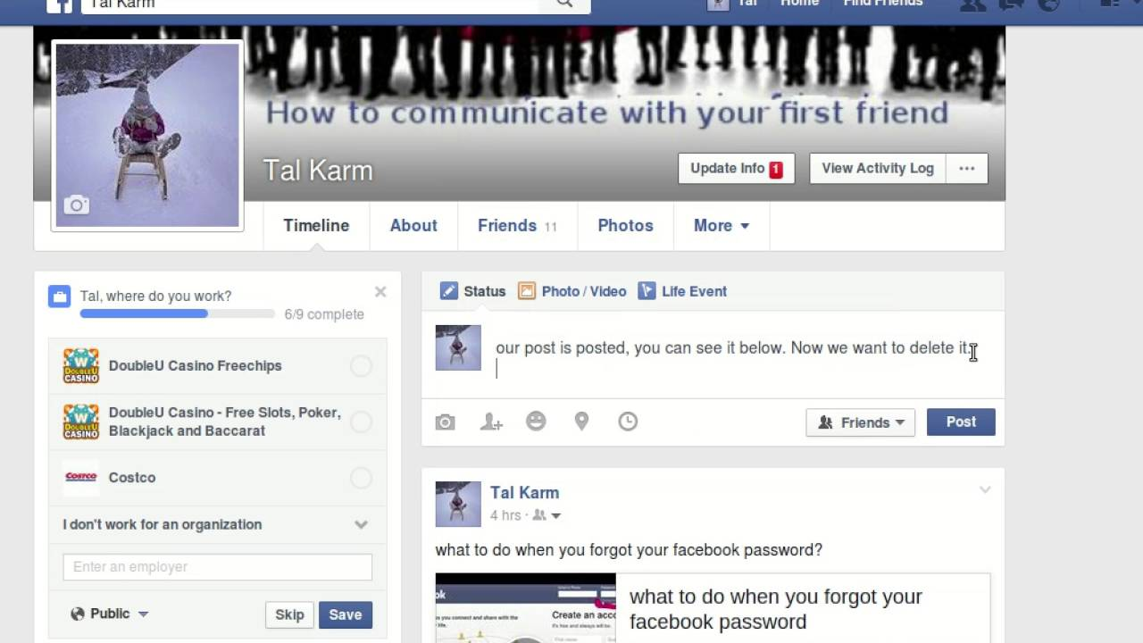 How To Post, Delete And Hide A Post On Facebook 2016