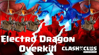 Overkill with Electro Dragon | balloons | stone Slammer | max TH 12 | COC 06/19 clash of clans