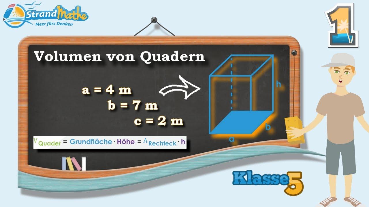volumen von quadern berechnen klasse 5 bung 1 youtube. Black Bedroom Furniture Sets. Home Design Ideas