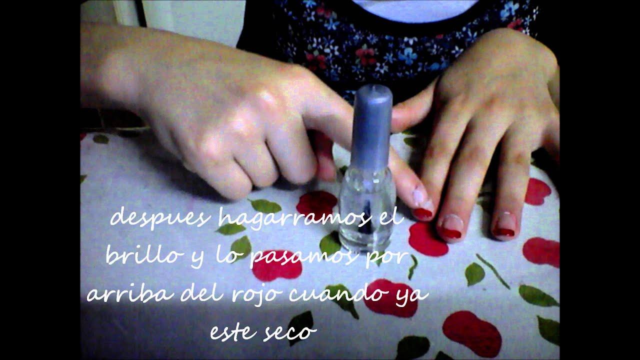 Como pintarse las u as en forma de francesita youtube - Como pintarse las unas ...