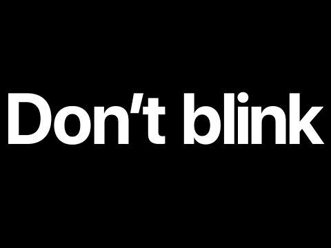 Apple – Don't Blink