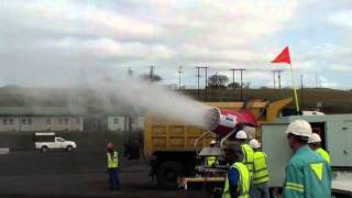Super Polecat - Dust control at anthracite loading bay