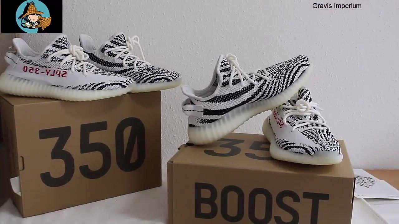 7840295093945 Deadstock Adidas Yeezy boost 350 Zebra V2 KanyeWest - YouTube