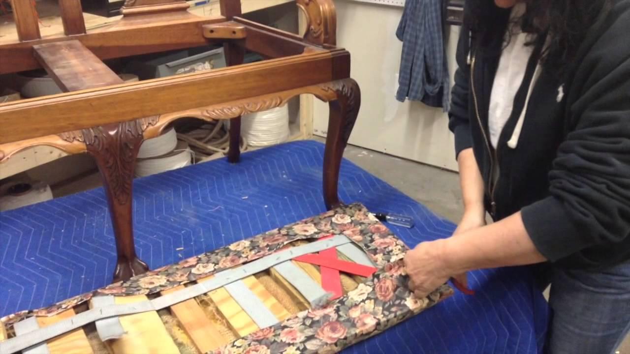 Chippendale Settee Upholstery Repair | Liberty Bell Furniture Repair U0026  Upholstery Portland Maine