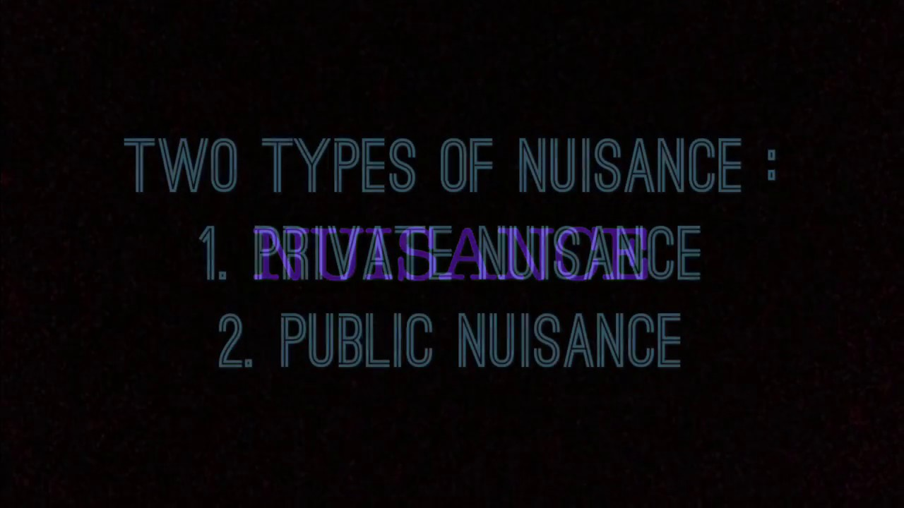 difference between public and private nuisance