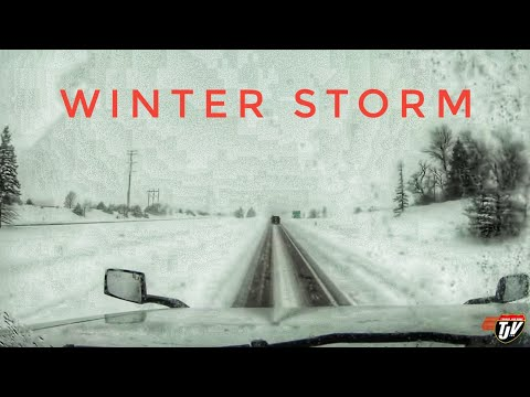 My Trucking Life | WINTER STORM | #1663