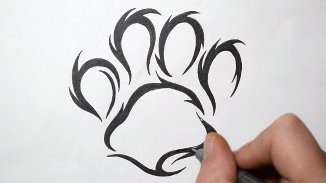 Gallery For gt Lion Paw Print Tribal