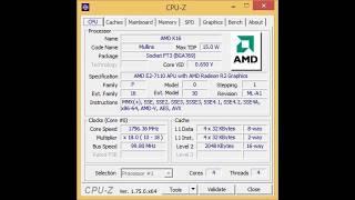 HP 255 G5 Notebook specs (CPU-Z)
