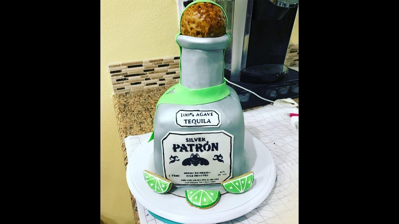 Patron Bottle Cake Pastel Botella De Patron Youtube