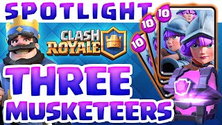 Clash Royale ♦ Card Spotlight ♦ The Three Musketeers!