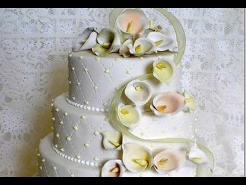 Calla Lily Wedding Cake   YouTube Calla Lily Wedding Cake