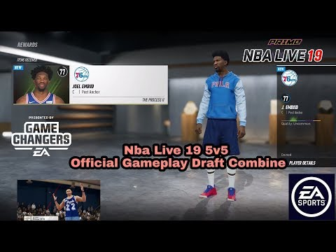 Nba Live 19 Official Nba Draft Combine Gameplay And Breakdown Before Demo.