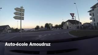 Auto-école Amoudruz. Parcours : Gex, Pitegny. Partie 1
