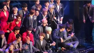 Download Video BTS interaction w/ EXO, VIXX, Zion T, SEVENTEEN at the 5th Gaon Chart Awards 160217 MP3 3GP MP4