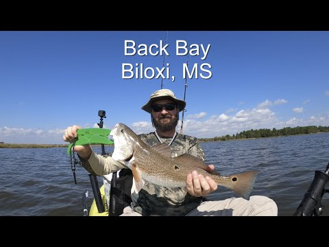 Kayak Fishing In Biloxi, MS Back Bay Using A Gold Spoon Which Is One Of My Favorite Lures.