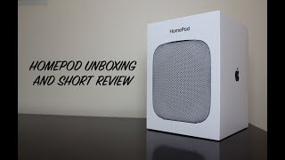 Homepod Unboxing and Review