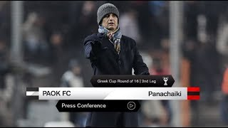 Η συνέντευξη Τύπου του ΠΑΟΚ-Παναχαϊκή - PAOK TV